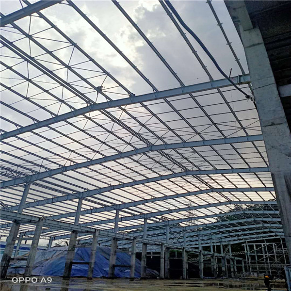 Steel structure raw material shed
